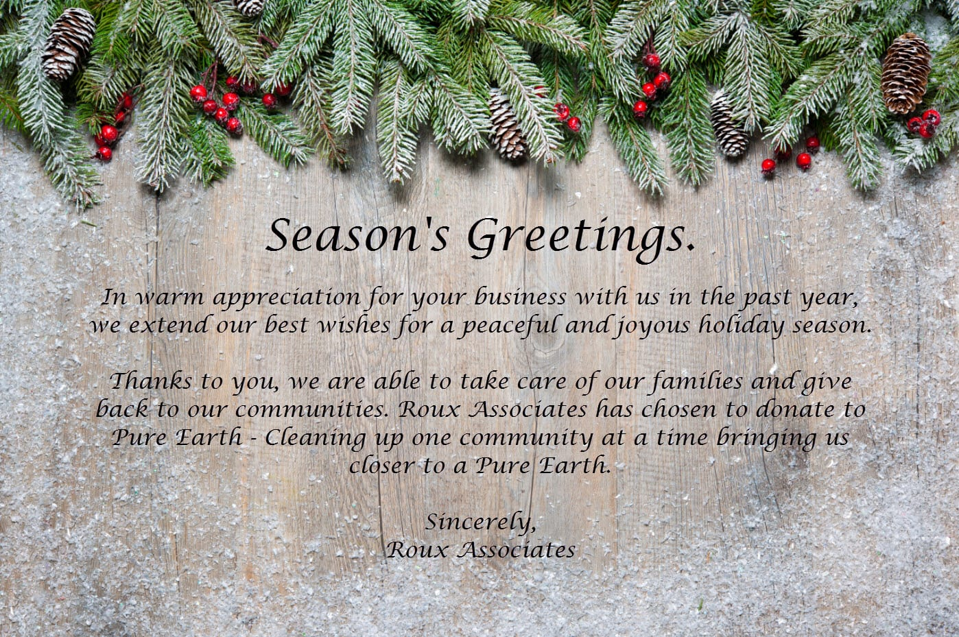 Seasons Greetings Roux
