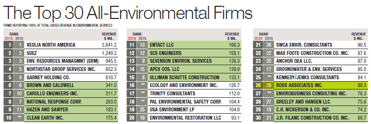 The Top 30 All-Environmental Firms