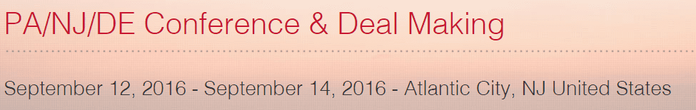 ICSC PA/NJ/DE Conference & Deal Making