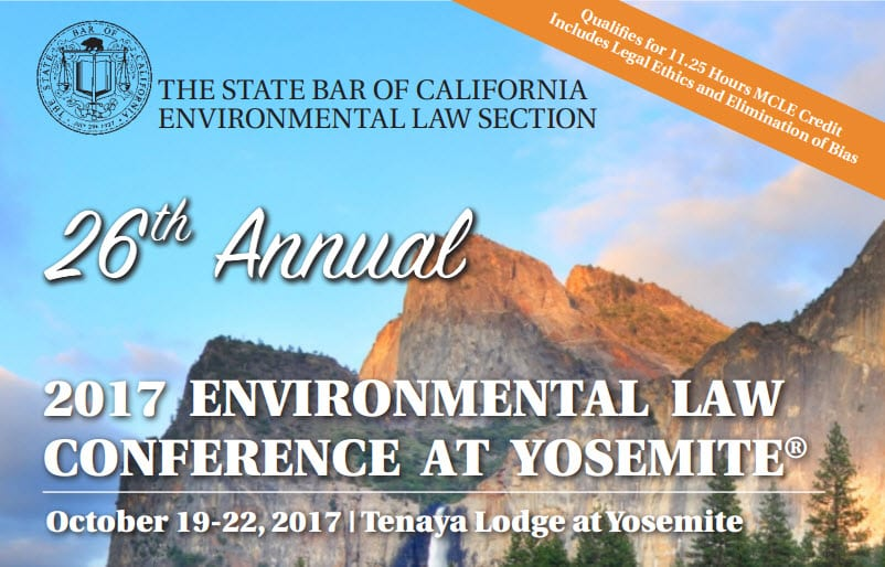 Environmental Law Conference at Yosemite