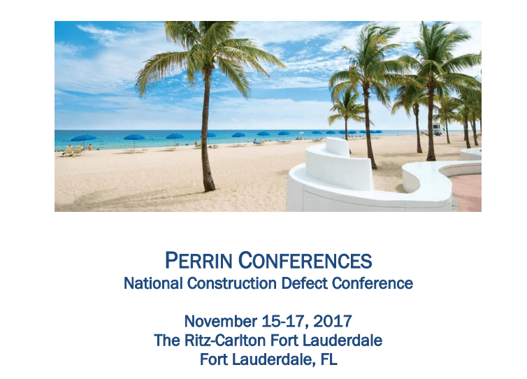 Perrin Conferences National Construction Defect Conference