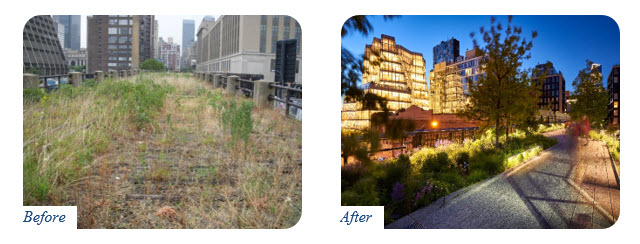 High Line Park Before and After