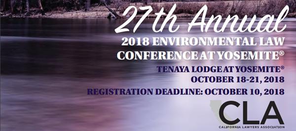 27th Annual Environmental Law Conference at Yosemite
