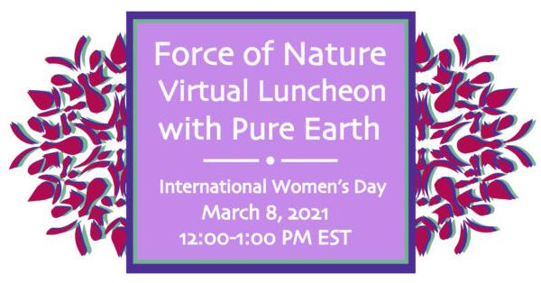 Pure Earth International Women's Day Virtual Luncheon